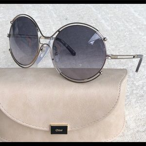 CHLOE round  59mm round sunglasses